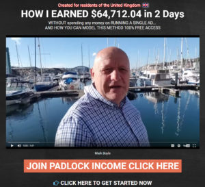 image about the Padlock Income System Latest Review